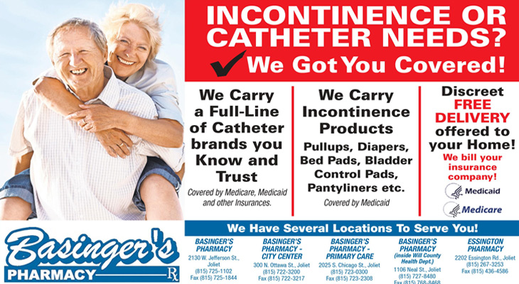 Incontinence Or Catheter needs? Basinger's Pharmacy got you covered!